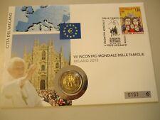 Vaticano 2012-numisbrief con 2 euros en stgl. - mundo reunión familiar Milán