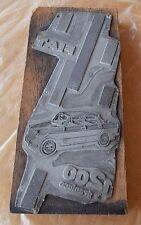FIAT 1200 GRANLUCE Cliche' di stampa MATRICE Originale anni 50 FCA 20x9 cm