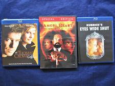 Lot Of 2 Blu-Ray Cd's-Thomas Crown Affair & Eyes Wide Shut-Bonus- Angel Heart