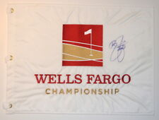 RICKIE FOWLER - 1ST WIN -  Signed - WELLS FARGO CHAMPIONSHIP - Golf Flag