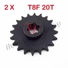 2x T8F 20T Front Pinion Sprocket Clutch Gear Box for 47 49cc 2 Stroke Dirt Bikes