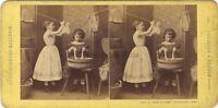 Scena Da Genere Germania Foto Loecher & Petsch Stereo Vintage Albumina Ca 1870