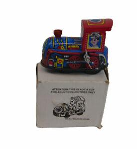 TIN TOY Train Wind Up Retro Collectible Cute Mini Engine NIB