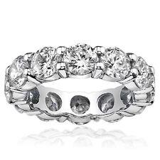 2 Carat G-H Diamond Full Eternity Wedding Engagement Band Ring 14K White Gold