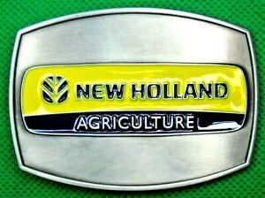 """Belt Buckle """"NEW HOLLAND AGRICULTURE"""" Custom Made, Fit 4 cm Belt, DIY, No Belt."""