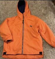 LL Bean Kids Winter Coat/Jacket Youth Size L 14-16-orange W/blue Fleece Lining