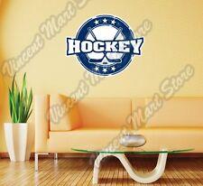 "Hockey Stick Puck Skate NHL Grunge Wall Sticker Room Interior Decor 25""X22"""