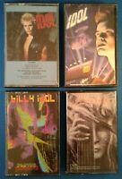 Billy Idol: S/T, Charmed Life & Cyberpunk CASSETTE TAPES w/ Steve Stevens tape