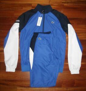 NWT Lacoste Men's Tracksuit  Size M  Color Blue / White / Navy  $250