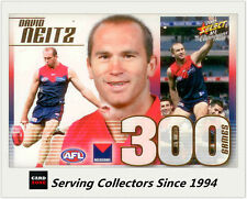 2008 Select AFL Champions 300 Game Case Card CC23 David Neitz (Melbourne)