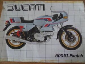 Ducati 500 SL Pantah Motorcycle Sales Brochure