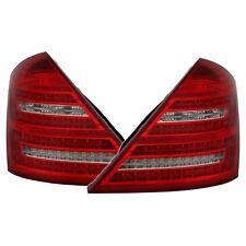 FEUX ARRIERE BLANC & ROUGE LED CRISTAL MERCEDES CLASSE S W221 DE 5/2005 A 3/2009