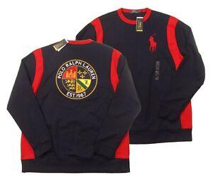 Polo Ralph Lauren Big & Tall Navy Big Pony Crest Patch Double Knit Sweatshirt