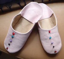 MOROCCAN  SOFT LEATHER SLIPPERS * 6/39* PINK