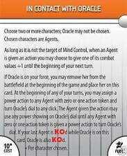 IN CONTACT WITH ORACLE f003 Legacy HeroClix Feat Card
