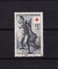 timbre France   croix rouge de 1955   num: 1049    oblitéré