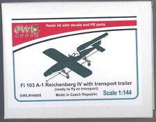 Owl 1/144 FIESELER Fi-103A-1 REICHENBERG IV MANNED V-1 with TRANSPORT TRAILER