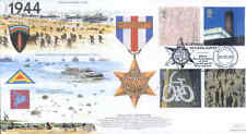 JSMIL17 WWII 1944 France and Germany Star Medal D-Day RAF 2000 Millennium FDC