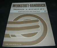 Werkstatthandbuch Honda Legend ab Baujahr 1987 Konstruktion und Funktion