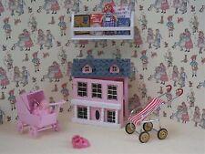 SCALA 1:12th 6 PEZZI ROSA Nursery Toy Box Set casa delle bambole miniatura camera da letto bs22