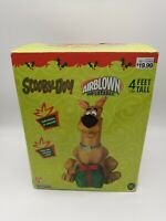 Vintage Gemmy Christmas Scooby-Doo with Present Airblown Inflatable 4 Ft In Box