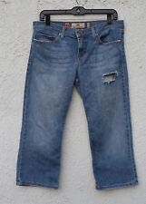 juicy couture blue short distressed jeans capri size 31 made in glamorous USA