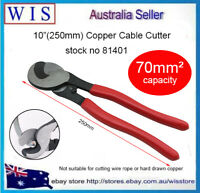 """10""""(250mm) Aluminum Copper Cable Wire Cutter up to 70mm² Cable Cutting Tool81401"""