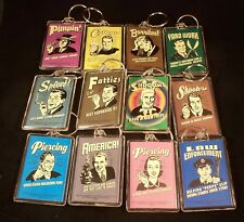 RETRO SPOOF Keychain Lot - Adult Humor - Lot of 12 New Keychains - Great Gifts