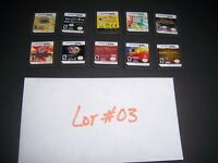 10 Nintendo DS DSi Lite Games - All Working - GREAT DEAL/GIFT-Titles Shown-#03