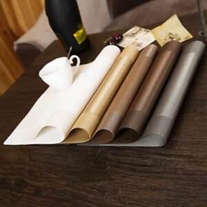 1 Pcs PVC Diagonal Frame Placemats Insulation Western Dining Table Mats Pads