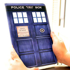 Doctor Who Tardis Leather Flip Stand Case Smart Cover For Apple ipad 2 3 4