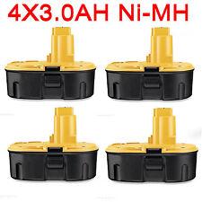 4x Battery For Dewalt 18V 3.0Ah Ni-MH Heavy duty DE9095 DE9096 DE9099 DC9096