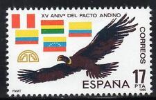 España estampillada sin montar o nunca montada 1985 SG2792 15th aniversario del Pacto Andino