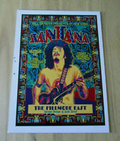 SANTANA  : THE FILLMORE EAST 1969  : A4 GLOSSY REPRODUCTION POSTER