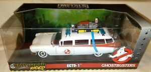 Jada Toys Metals Ghostbusters Ecto-1, 1/24 Scale Hollywood Rides NEW