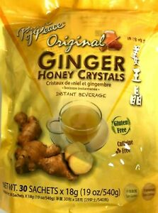 1/2/4 Bags, Prince of Peace Original Ginger Honey Crystals 19 Oz/540g 30 Sachets