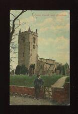 Lincolnshire Lincs FOSTON Church near Grantham Used 1908 PPC