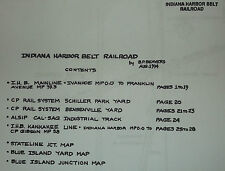 REPRO INDIANA HARBOR BELT IHB 1994 DISPATCHERS TRACK CHART CP UP NS EJ&E IC GTW