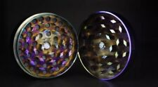 3 Parts METAL RAINBOW Cigarette Tobacco Herb Grinder 50mm Purple Stash