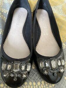 Ladies Next Flat Shoes Size 8 Black