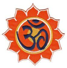 be76 Hindu Sonne Ohm Buddha Aufnäher Applikation Bügelbild Patch 7,5 x 7,5 cm