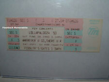 LOLLAPALOOZA 93 Unused Ticket ALICE IN CHAINS Tool PRIMUS Denver Fiddler's RATM