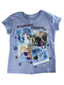 "Disney Store Girls Anna & Elsa - Frozen - ""Forever Sisters"" T-Shirt, Purple"