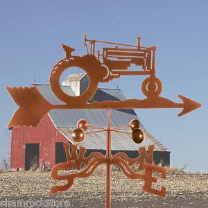 John Deere Tractor Weathervane - Farm - Weather Vane,Complete w/ Choice of Mount