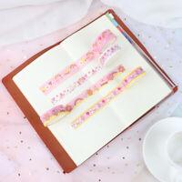 Korean Ins Pink Girl Flower Decorative Adhesive Tape For Diary DIY Scrapbook xi