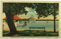 "Postcard New Wilson Line Steamer Ship ""City Of Washington"" Mt Vernon Virginia"