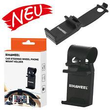 HAWEEL Universal KFZ Lenkrad Handy Halterung iPhone Samsung Huawei Garmin BLACK