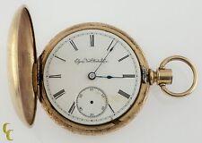 Gold Filled Elgin Full Hunter Pocket Watch 11 Jewels Size 18S 1888 Gr: 102