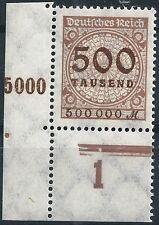 Korbdeckel MiNr. 313AP vom Plattenunterrand aus Ecke 3 postfrisch (22)