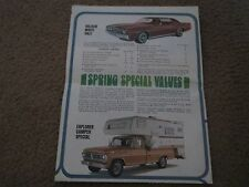 1972 FORD MUSTANG MAVERICK PINTO TORINO ROADS TO FUN MAILER SALES BROCHURE RARE